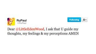 Illustration for article titled RuPaul Is Kneeling at the Altar of Little Eden Wood