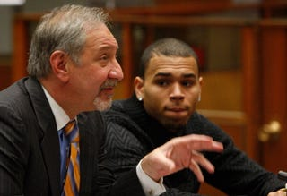 Pop star Chris Brown and attorney Mark Garagos