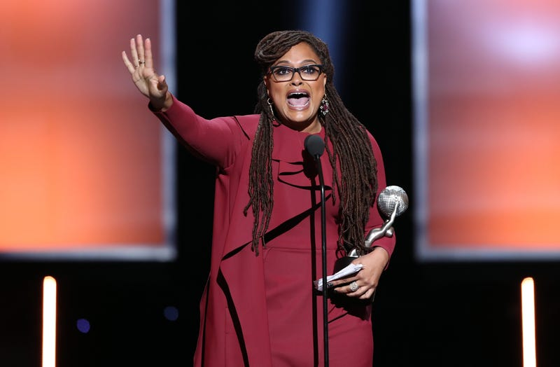 Ava DuVernay accepts the Entertainer of the Year award onstage during the 49th NAACP Image Awards at Pasadena Civic Auditorium on Jan. 15, 2018, in Pasadena, Calif.