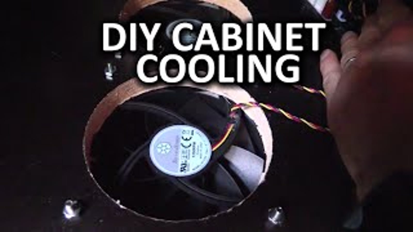 Build Some Fans Into Your Entertainment Center For Better Cooling Electric Fan Diy