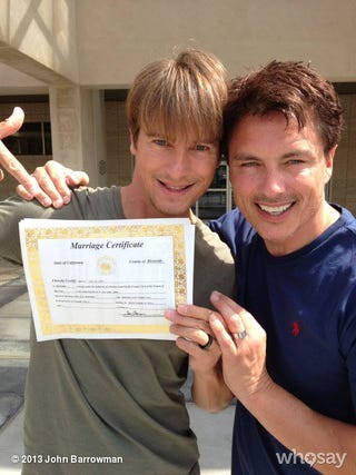 Illustration for article titled Today (well, yesterday's) Good Thing: John Barrowman Got Married