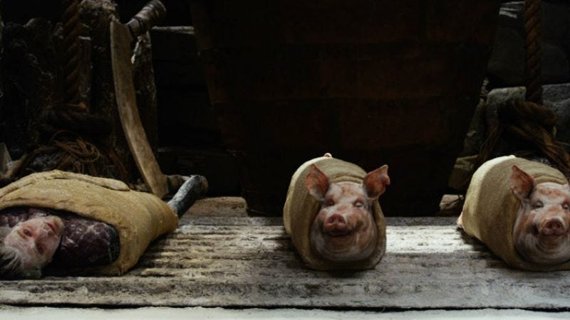 Illustration for article titled Caption Contest: Pigs in a blanket in Jack The Giant Slayer?
