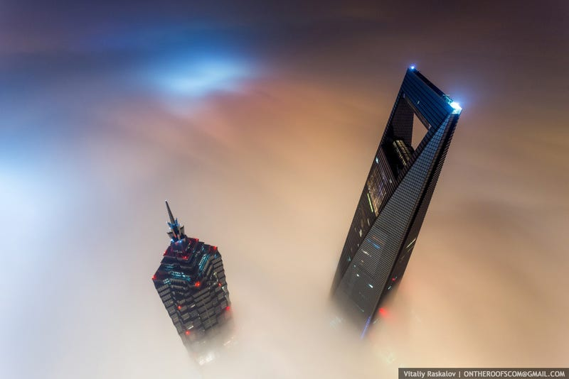 Illustration for article titled Stunning photos taken by the two Russian daredevils atop Shanghai Tower