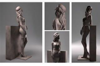 Illustration for article titled Amy Winehouse szobrot kap, és valahogy így fog kinézni
