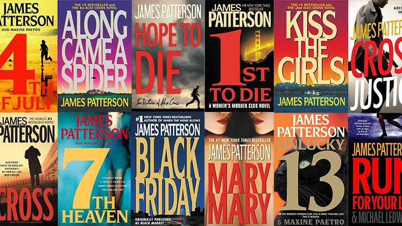 Illustration for article titled How Many Of These James Patterson Novels Have You Read?