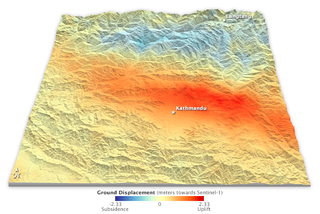 Illustration for article titled A Map Of How Far The Earthquake In Nepal Moved The Earth