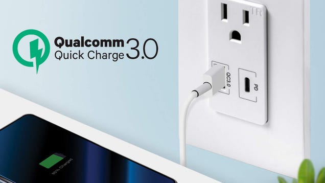 Replace An AC Outlet With USB-C PD and Quick Charge 3.0