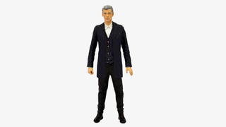 Illustration for article titled Behold, the first figure of Peter Capaldi in his 12th Doctor outfit