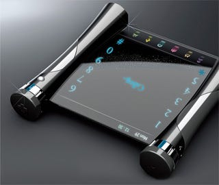 Illustration for article titled Visual Sound Is A Phone Concept For The Deaf With Transparent Touchscreen
