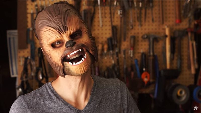 Illustration for article titled Once hacked, a Chewbacca mask can say all kinds of things