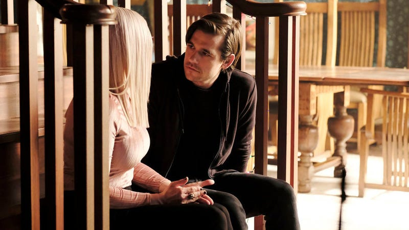 Alice (Olivia Taylor Hudley) and Quentin (Jason Ralph) on the season four finale of The Magicians.