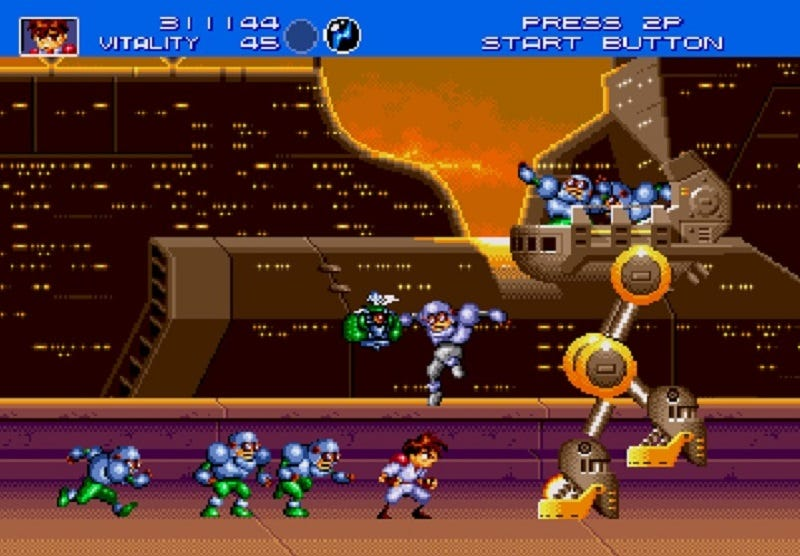 Illustration for article titled Gunstar Heroes Is An Exhilarating Ride That Never Lets Up