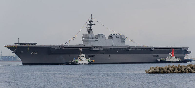 Illustration for article titled Japan's Latest Destroyer Sure Looks Like An Aircraft Carrier!