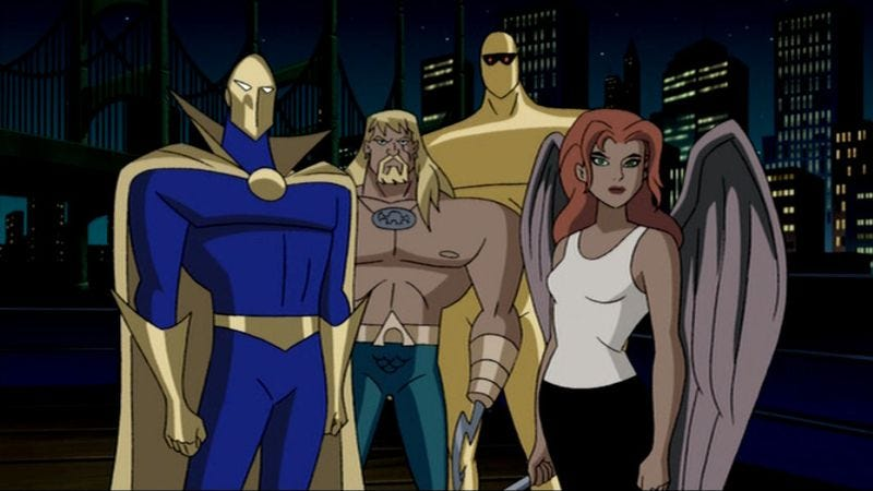 Normal batman green lantern hawkgirl justice league unlimited vixen