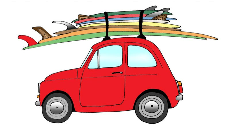 Illustration for article titled Surfboards And Cars Illustrated: The Ultimate Mid-Winter Summer Car Fantasy