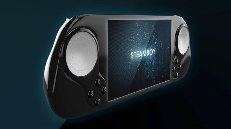 Illustration for article titled Steam muestra en un tráiler su primera consola portátil, la SteamBoy