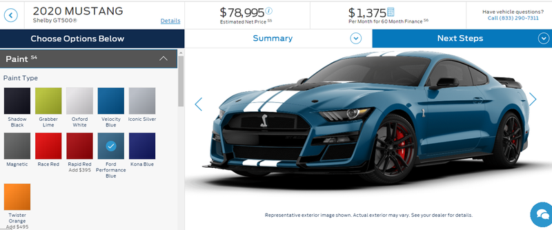 Illustration for article titled GT500 Configurator Is Up