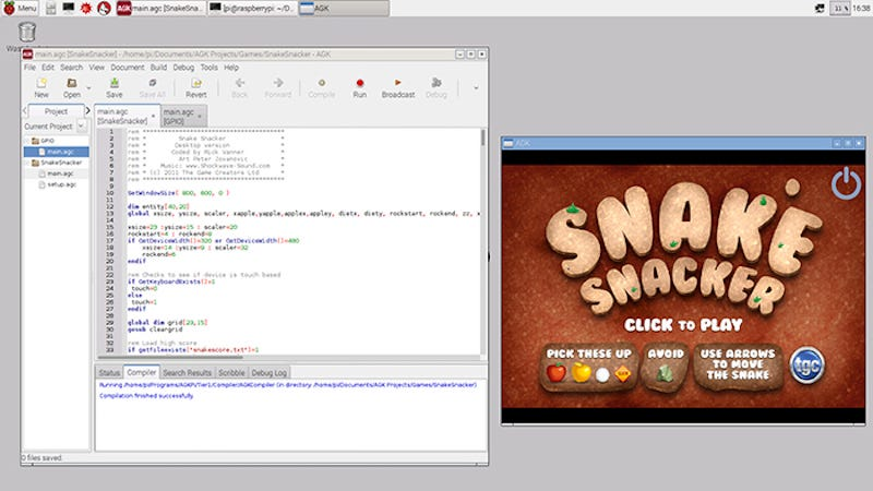 AppGameKit Is a Free Game Creation Toolset for the Raspberry Pi