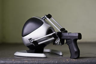 Illustration for article titled Novint Falcon Controller with Gun Attachment Reviewed (Verdict: Awesome)