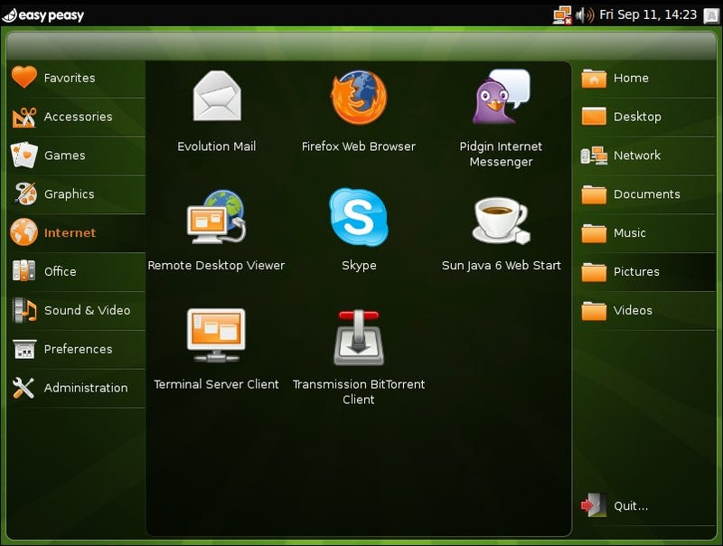 easy peasy is a lightweight linux distro optimized for netbooks. Black Bedroom Furniture Sets. Home Design Ideas