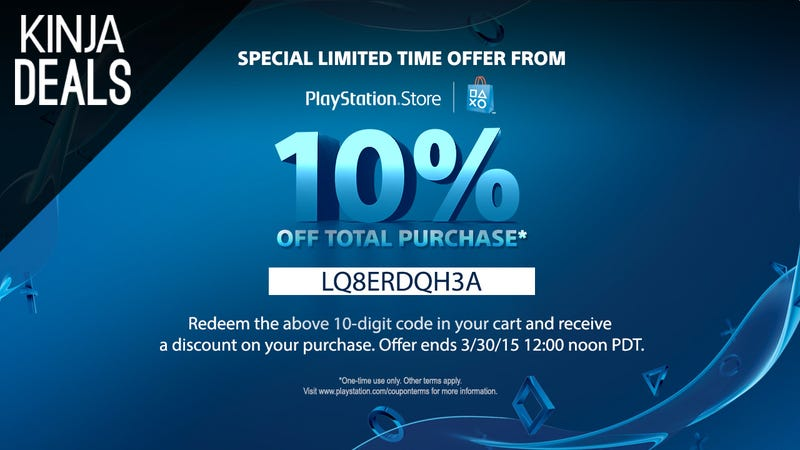 Illustration for article titled Take 10% Off (Almost) Anything in the PlayStation Store