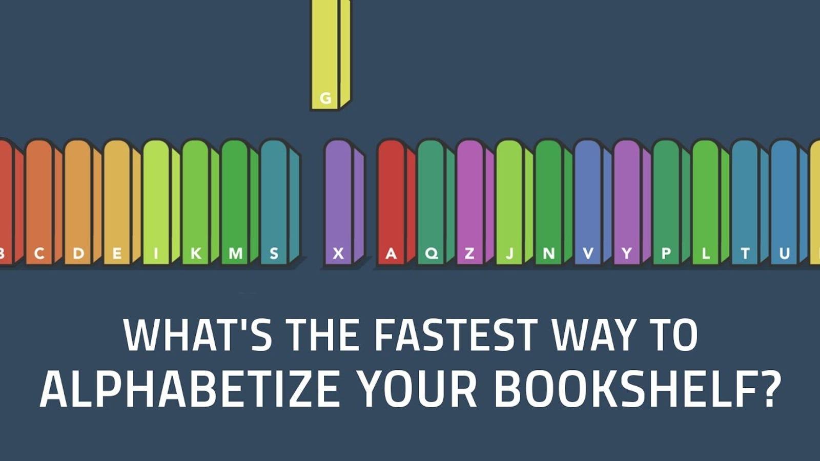 The Fastest Way to Alphabetize Your Bookshelf