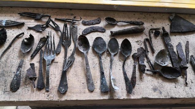 Prisoners  Tools Found Hidden in Chimney at Auschwitz