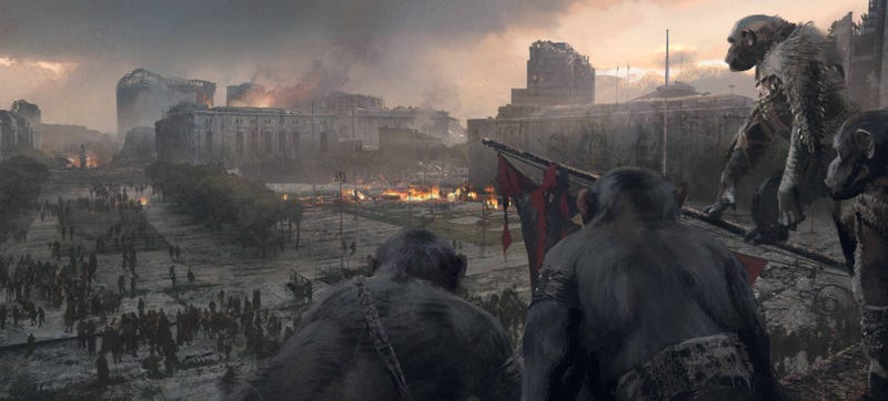 Illustration for article titled Check Out Some Exclusive Dawn Of The Planet Of The Apes Concept Art!