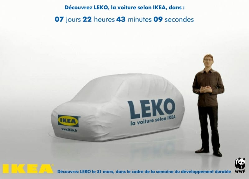 Illustration for article titled IKEA Concept Car A Bad Swedish Joke?
