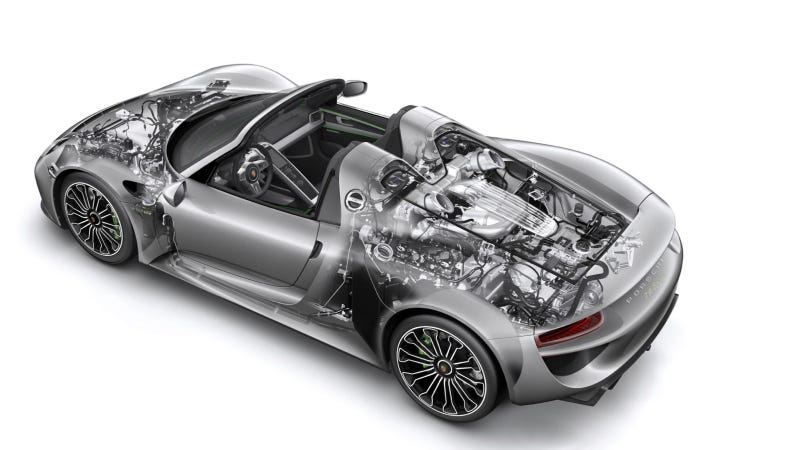 the 887 hp porsche 918 spyder will get 85 to 94 mpg