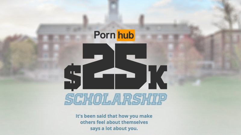 Illustration for article titled Pornhub Is Now Offering a $25K College Scholarship