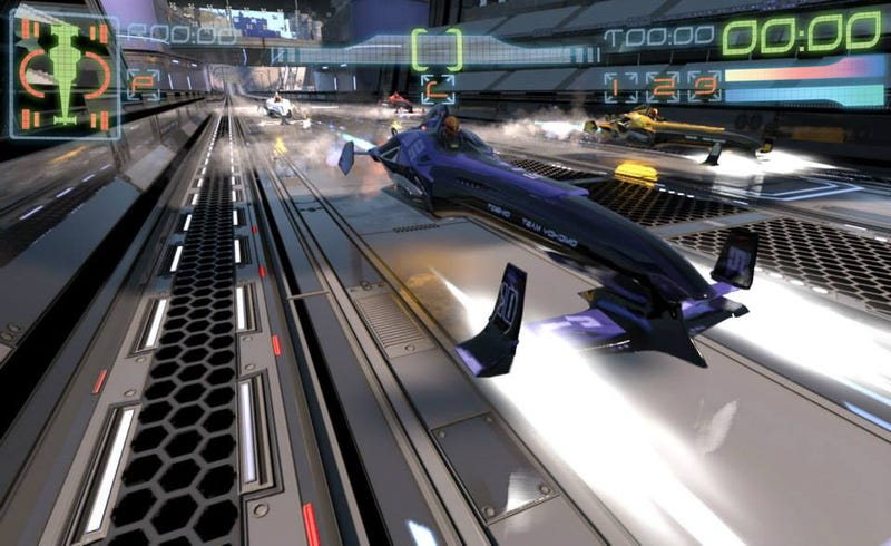 Illustration for article titled ​Phew, Ex-WipEout Devs' New Racing Game Looks Just Like WipEout