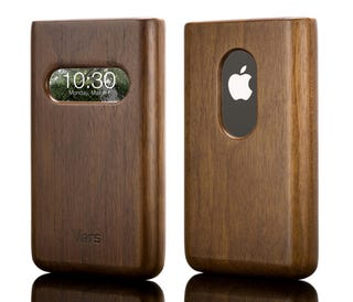 Illustration for article titled Solid Hardwood Vers iPhone Case Has Time Window