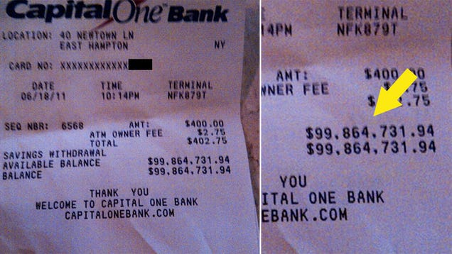 this  100 million atm receipt will make you hate yourself