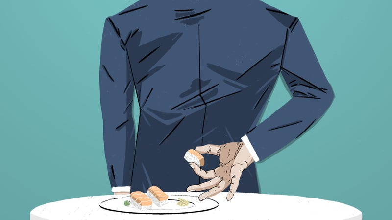Illustration for article titled An Interview With A Man Who Eats Leftover Food From Strangers' Plates In Restaurants