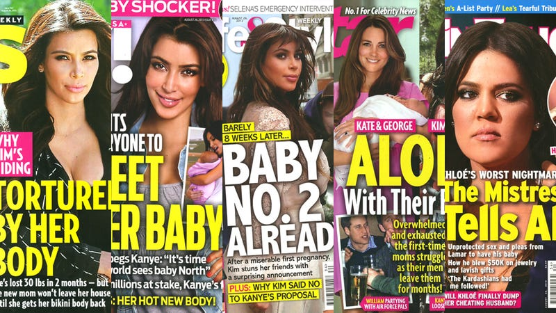 Illustration for article titled This Week in Tabloids: Kim Kardashian Impregnated by Magazine