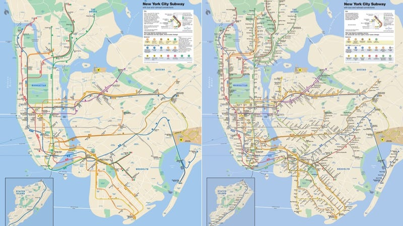Illustration for article titled A Simple Map Shows Just How Shitty the NYC Subway System Is For People Using Wheelchairs