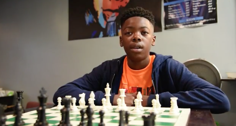 Cahree Myrick, 12, just became the first individual national youth chess champion in Baltimore history. (Baltimore Sun screenshot)