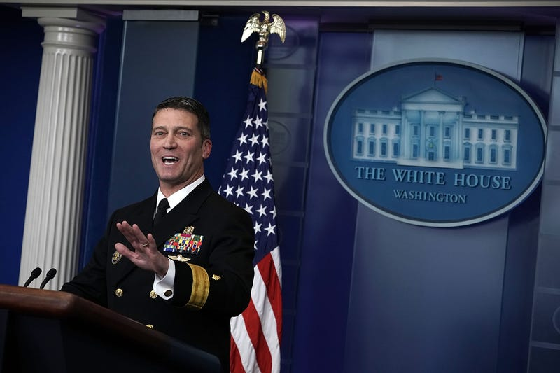 Physician to President Donald Trump Dr. Ronny Jackson speaks during the daily White House press briefing at the James Brady Press Briefing Room of the White House on Jan. 16, 2018, in Washington, D.C.