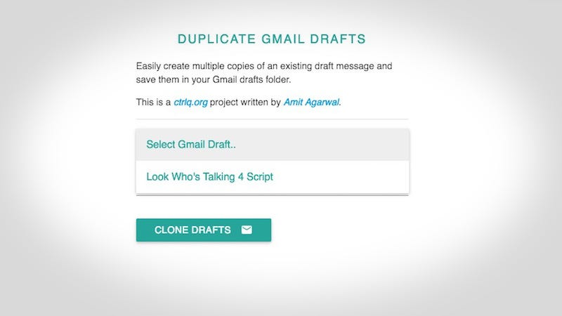 Duplicate Email Drafts In Gmail For Easy Access To