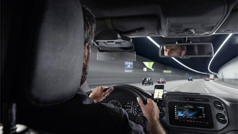 Illustration for article titled Pioneer's New HUD Brings Augmented Reality to Cars for Less Than $1,000