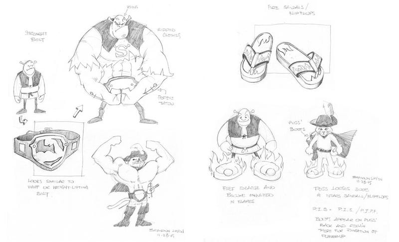 Illustration for article titled Here's Some Concept Art From A Shrek PS2 Game