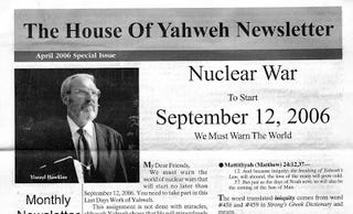 Illustration for article titled Nuclear War to Start September 12, 2006