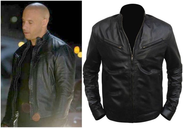 Illustration for article titled FAST AND FURIOUS 6 VIN DIESEL LEATHER JACKET