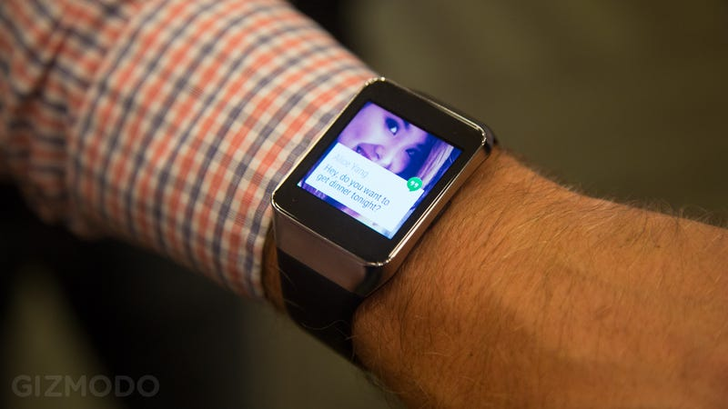Illustration for article titled Samsung Gear Live Hands-On: Turns Out Smartwatches Could Be Great