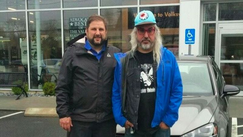 Illustration for article titled Let's all congratulate J Mascis on his brand new VW Golf