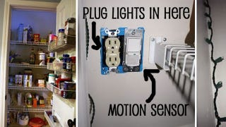 Illustration for article titled Create a Safe, Motion-Sensing LED Lighting System for Your Closet or Pantry