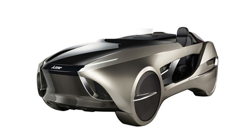 Illustration for article titled Mitsubishi's Refrigerator Division Made An Electric Self-Driving Car Concept