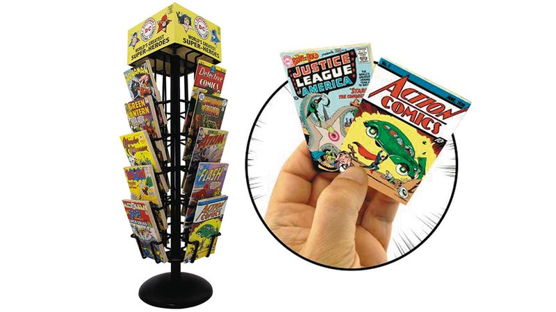 You Can Buy a Tiny Comic Book Rack And Fill it With Equally Tiny Comics