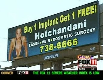 "Illustration for article titled ""Buy One Implant, Get One Free"" Ad Created By A Boob"